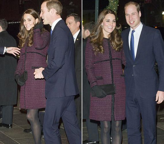 A hercegi pár Györgyöt most otthon hagyta, hiszen csak egy rövid látogatásra érkeztek New Yorkba.