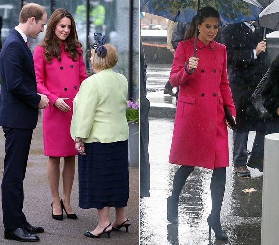 A kabát korábban is volt már rajta, mégpedig tavaly decemberben, New York-i látogatása alkalmával - az esős kép ott készült.