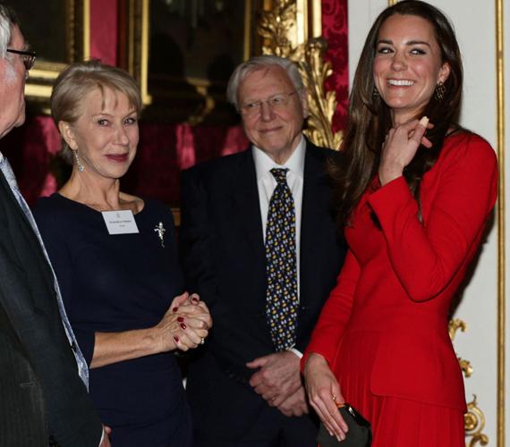 Férje BAFTA-gálabeli szereplése után Katalin hercegnő is találkozhatott Helen Mirren színésznővel.