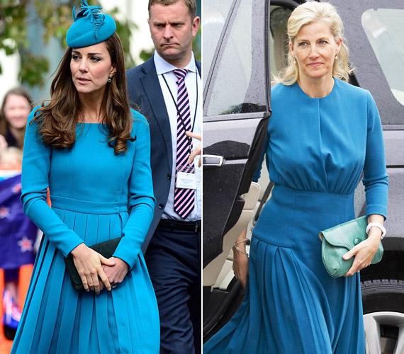 MindkettenEmilia Wickstead kék alkotásaiban tündököltek. Sophie hercegnő sokáig igen slampos volt.