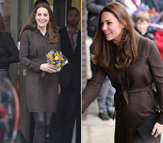 Január 16-án nevelőszülőkkel találkozott, egy kígyóbőr-mintázatú Hobbs selyemruhát viselt az akkor hat hónapos terhes hercegnő.