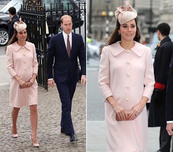 Március 9-én a nemzetközösségi napon vett részt férjével, Vilmos herceggel. Gyönyörű volt Alexander McQueen kabátjában a Westminster-apátságban tartott ünnepi rendezvényen.