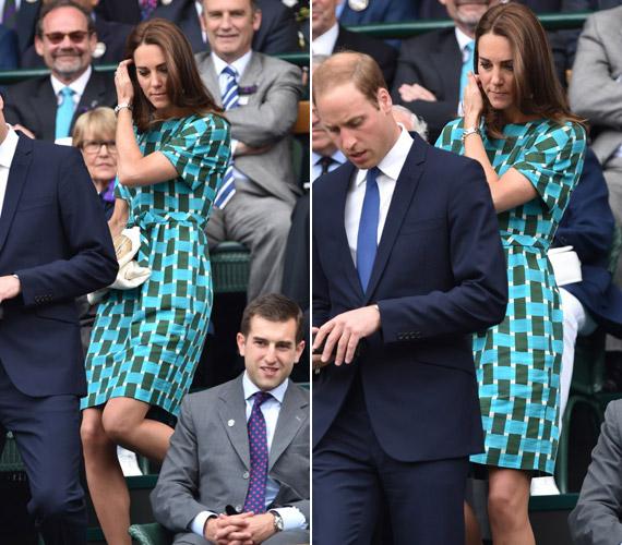 - Mióta megszületett György, teljesen kijöttem a gyakorlatból, hiszen másfél éve nem teniszeztem - vallotta be Katalin hercegnő a londoniAll England Lawn Tennis & Croquet Clubban.