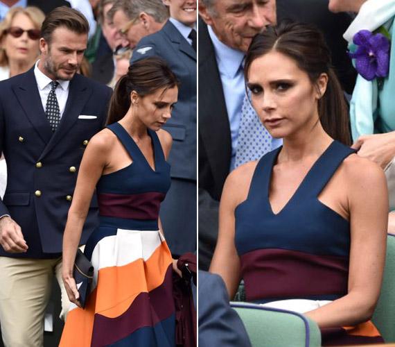 Victoria Beckham ismét hozta a formáját, és a mérkőzés legdivatosabban öltözködött nője címet is megkapta.