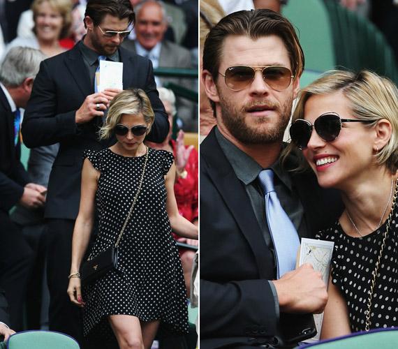 A magyar származásúElsa Pataky férjével,Chris Hemsworth színésszel látogatott ki a meccsre.