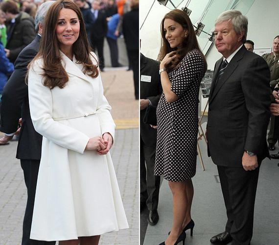 A héten a hercegnő Portsmouth-ba látogatott a Ben Ainslie Racing vitorláscsapat hadiszállására. A várandós Katalin egy gyönyörű, hófehér MaxMara kabátot viselt, alatta pedig stílusosan egy fekete alapon fehér vitorlásmintás kisruhát, melyben ismét lenyűgözően festett.