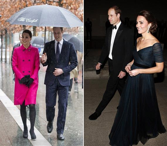 A zuhogó esőben bizonyára nem volt kellemes a városnézés, de Katalin még ezt is mosolyogva bírta. Estére pedig abba a bizonyos Jenny Packham ruhába bújt, amit már láthattak rajta a rajongók, nem is egyszer.