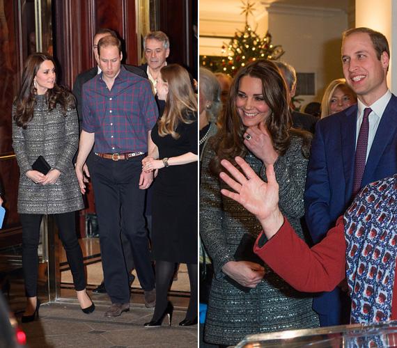 A kosármeccs előtt voltak a brit konzulátuson, Katalin mindkét eseményen egy Tory Burch tweedkabátban, fekete skinny farmerban és fekete körömcipőben jelent meg - szettje egyaránt megfelelt a hivatalos eseményre és a meccsre is.