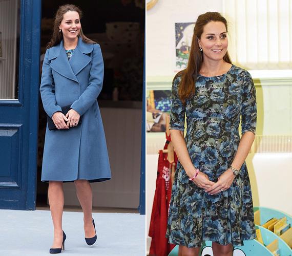 Két héttel korábban viszont egy hivatalos eseményen volt, a Bridgewater porcelángyárba látogatott el, akkor egy Seraphine ruhában jelent meg.