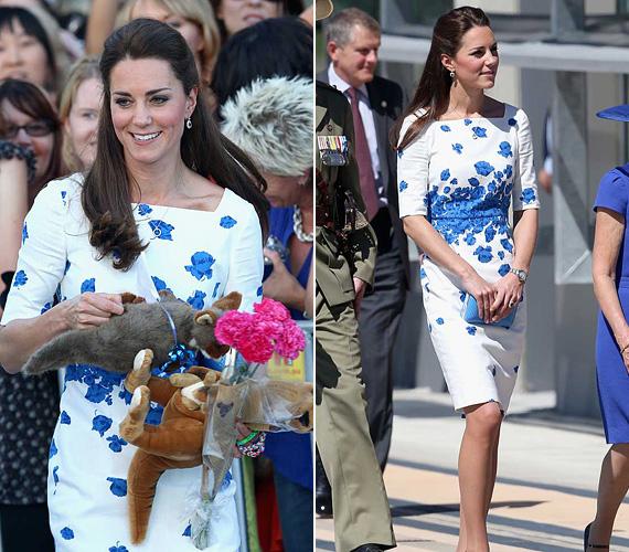 2014 augusztusában Vilmos herceggel meglátogatták az Ausztrál Királyi Légierő bázisát Amberley-ben, ekkor volt rajta ez a gyönyörű L.K. Bennett dressz.