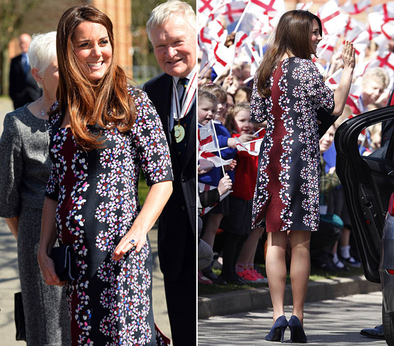 2013 áprilisában, hét hónapos terhesen viselte a virágos Erdem ruhát, amikor egy általános iskolába látogatott el. A kis György végül július 22-én született meg.
