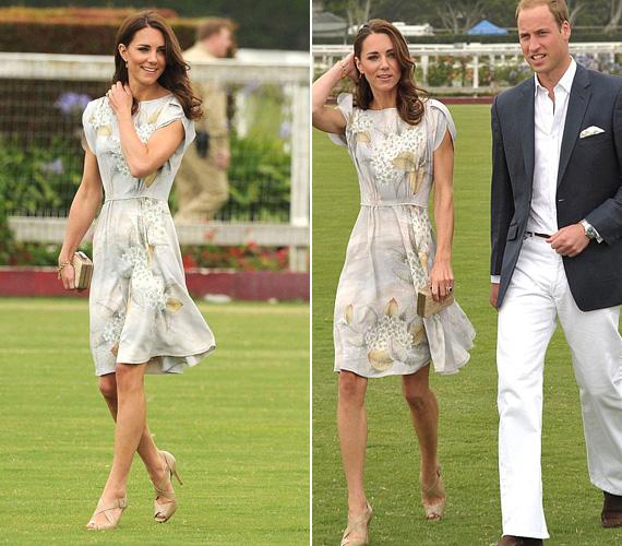 2011 júliusában egy bűbájos Jenny Packham ruhában kísérte el Vilmos herceget a pólómeccsére.