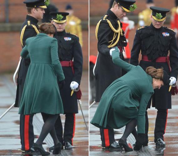 A hercegnő cipője 2013-ban beragadt egy rácsba.