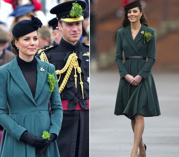 Tavaly már jól látszott a pocakja a hercegnőnek. 2012-ben szintén az a kabát volt rajta, csak akkor még övvel hordta.