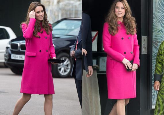Igazán gyönyörű volt ebben a pink Mulberry kabátkában.