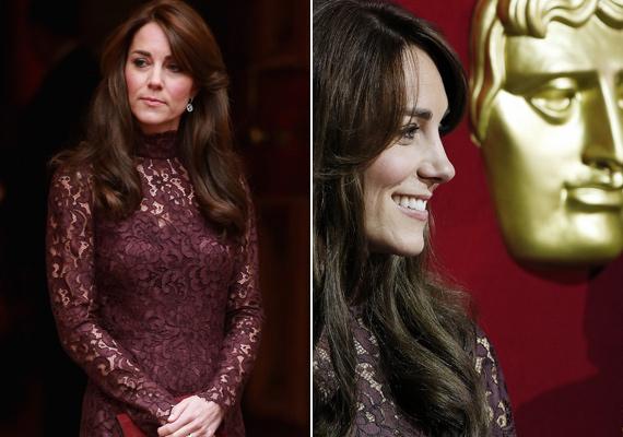 Katalin hercegné szokásához híven nagyon elegáns volt, a lila szín igazán jól passzol gesztenyebarna hajához.