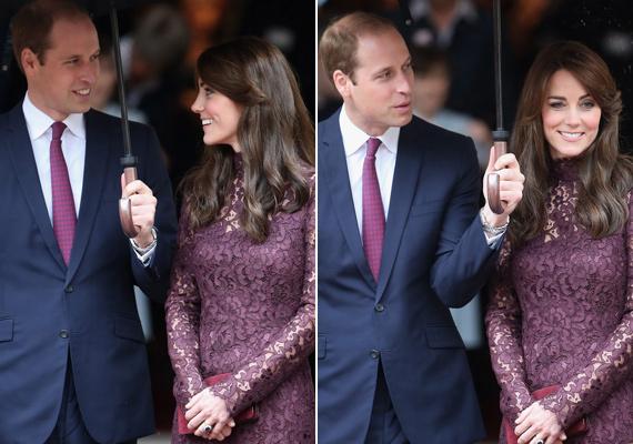 Vilmos herceg igazi úriember, végig a felesége feje felett tartotta az esernyőt.