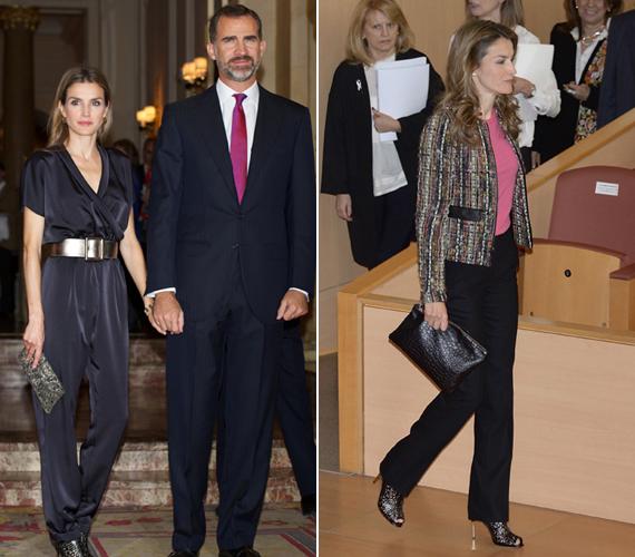 Letícia férjével, Fülöp spanyol trónörökössel érkezett meg egy eseményre, melyre selyem overalt választott.