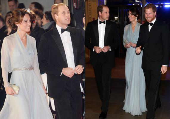 Még Harry herceg is huncutul mosolyog, valószínűleg ő is kiszúrta, hogy sógornője nem húzott melltartót.