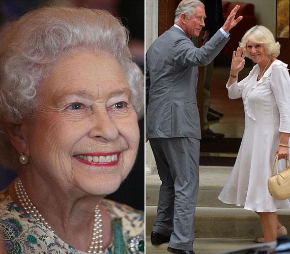 Károly herceg és felesége, Kamilla is meglátogatta az unokát, Erzsébet királynő pedig ugyancsak boldog, a dinasztia fennmaradását Károly, Vilmos és a Baby Cambridge is biztosítja.