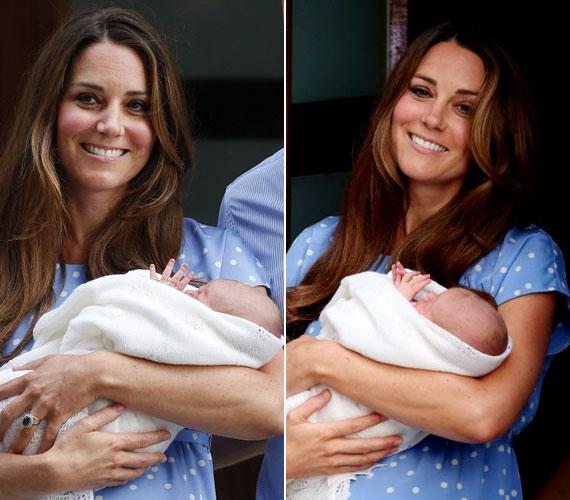Katalin hercegnő nyolc óra vajúdás után hozta világra kisfiát július 22-én, hétfőn, londoni idő szerint 16 óra 24 perckor. A fáradtságnak nem sok nyoma látszott rajta, az arcáról egy percre sem olvadt le a mosoly.