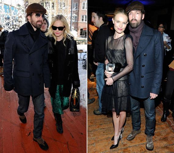 A színésznő kedvesével, Michael Polishsal érkezett a rendezvényre, akivel boldogan pózoltak a fotósok előtt.