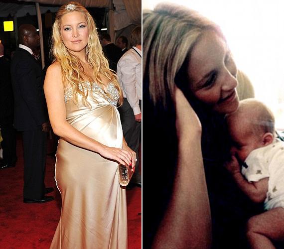 Goldie Hawn lánya a terhessége alatt sem veszített szépségéből, sőt, a szülés után sem bujkált a fotósok elől - kisfiát, Bing Bellamyt a Twitteren mutatta meg először.