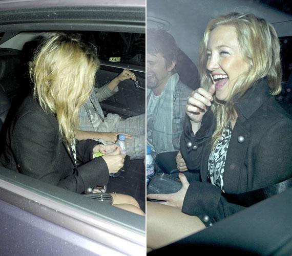 Kate Hudson minden bizonnyal bulizni indult a londoni éjszakába, amit egy kis alapozás előzött meg.