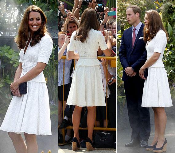 Katalin hercegné rajong a csipkeruhákért, Szingapúrban többször is ilyet választott.