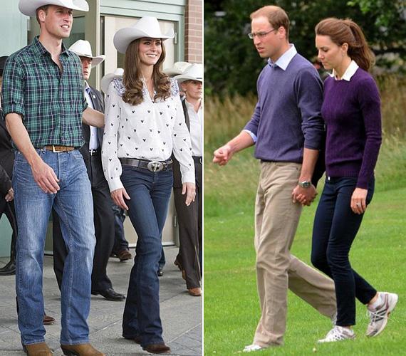 Kate a kanadai-amerikai körútján egy vidéki rodeóbemutatón debütált szexis farmerjében, de hazaérve is sokszor viselte kedvenc nadrágját.