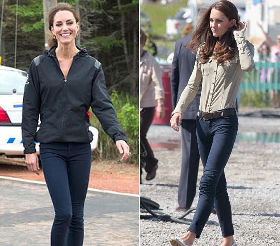 Kate aktívan sportol, az egyetemen az evezett, de mostani formája jóval szálkásabb - nadrágban látszik a legjobban keskeny csípője.