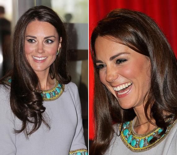 A finom díszítés természetesen nem tűrt más figyelemfelkeltő ékszert. Kate Middleton egy apró fülbevalón, a szolid sminken és csillogó hajkoronáján kívül nem is ékesítette magát mással.