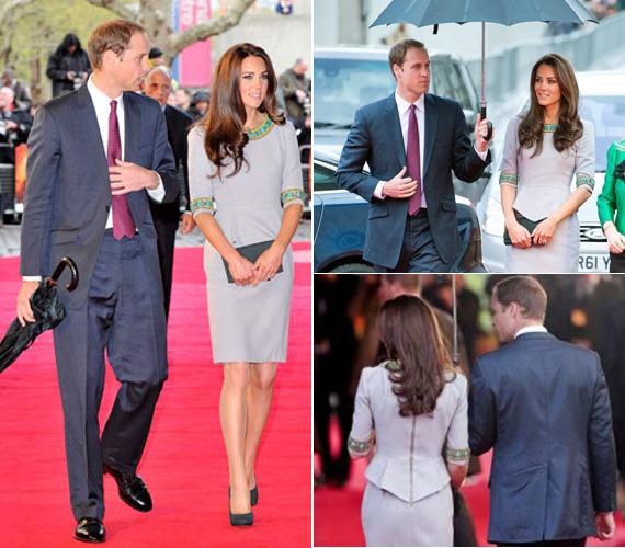 Vilmos herceg büszkén húzhatta ki magát a vörös szőnyeg legszebbjének kikiáltott felesége mellett.