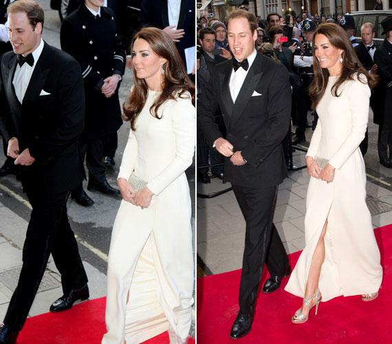 Katalin hercegnő mindig ügyel a legapróbb részletekre is: Beauty fülbevalója is harmonizált csillogó szandáljával és táskájával.