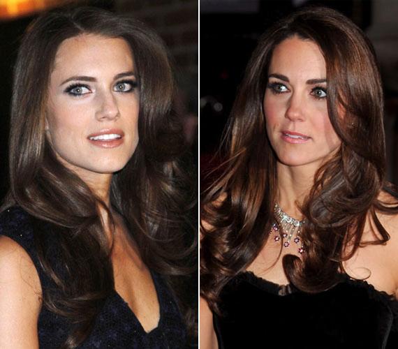 Az amerikai szakértők szerint kísérteties a hasonlóság a színésznő és Katalin hercegné között.