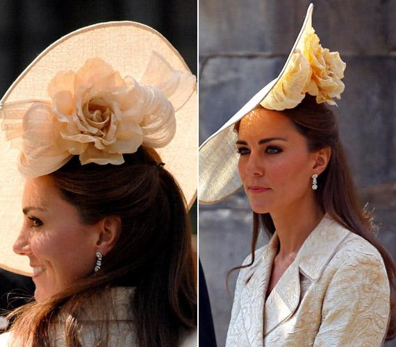 A különleges halványsárga kalap mesésen passzolt a hercegnő tónusaihoz, a hatalmas virággal díszített darabot Zara Phillips és Mike Tindall esküvőjében viselte.