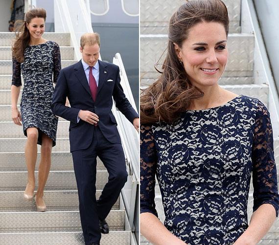 Ottawa repterén egy Erdem királykék csipkeruhában jelent meg Kate Middleton, teljesen érthető tehát, hogy a fotósok csak őt fotózták.