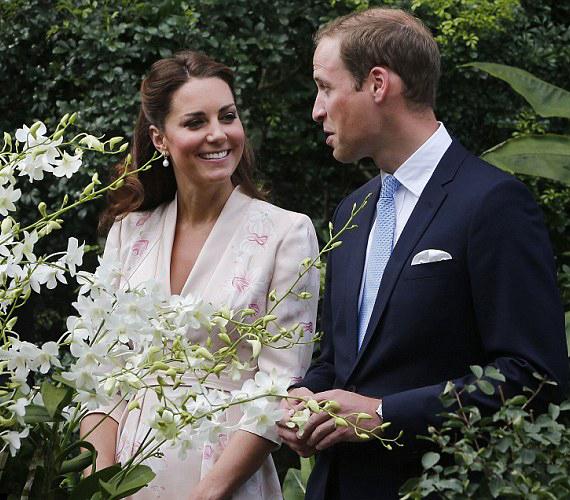 Diana hercegnő sosem láthatta a róla elnevezett fehér orchideát, amely előtt a hercegi pár áll.