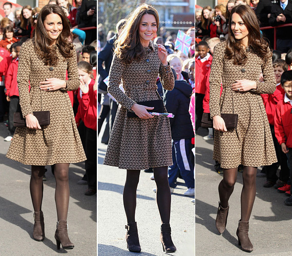 Egy februári jótákonysági eseményben barna összeállításban jelent meg, bizonyítva, hogy a téli hónapokban is lehet elegánsan öltözködni.