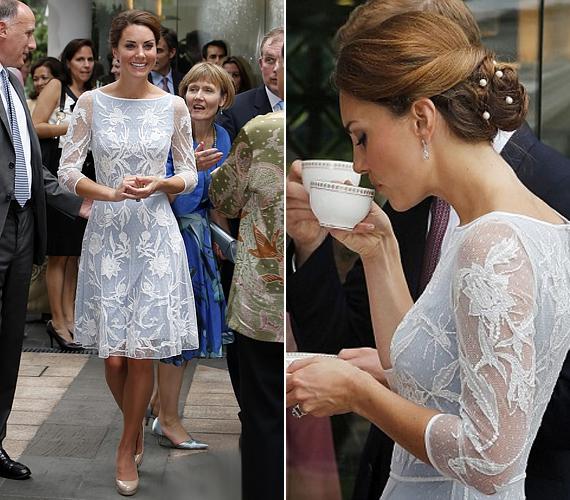 A hercegi pár szeptemberben a királynő gyémántjubileumának alkalmából távol-keleti körutazásra indult, amelynek során többek között a malajziai Kuala Lumpurba is ellátogattak, ahol Katalin áttetsző, Temperley London-csipkeruhájában különösen fenségesen mutatott.