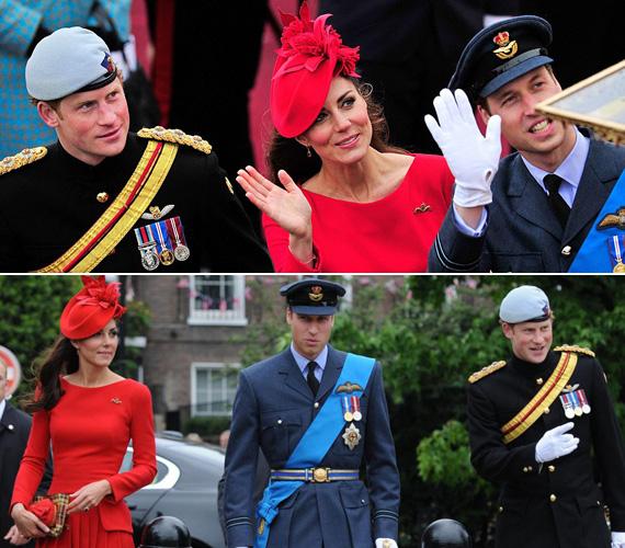 Katalin, Vilmos és Harry herceg hármasát nagy érdeklődés övezte.