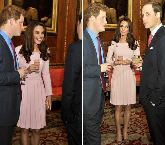 Remekül szórakozott férje, Vilmos herceg és sógora, Harry oldalán.