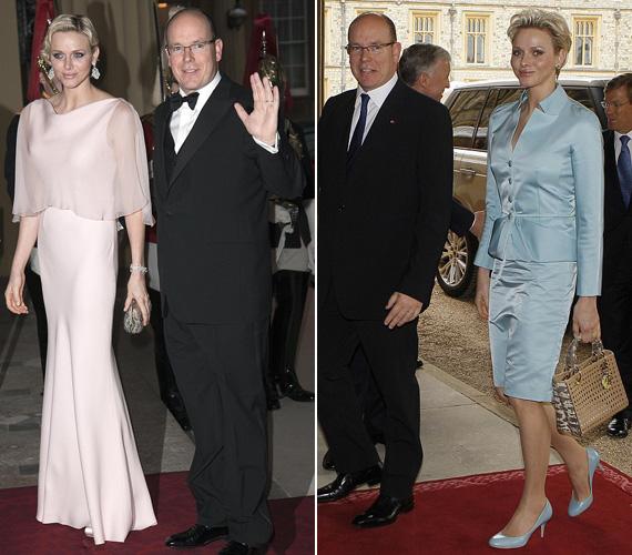 Charlene hercegnő, Albert monacói herceg felesége halványbarack, leheletnyi finomságú estélyijében és húszas évekbeli frizurájával bűvölte el először a közönséget, második jelenésével már nem aratott akkora sikert.