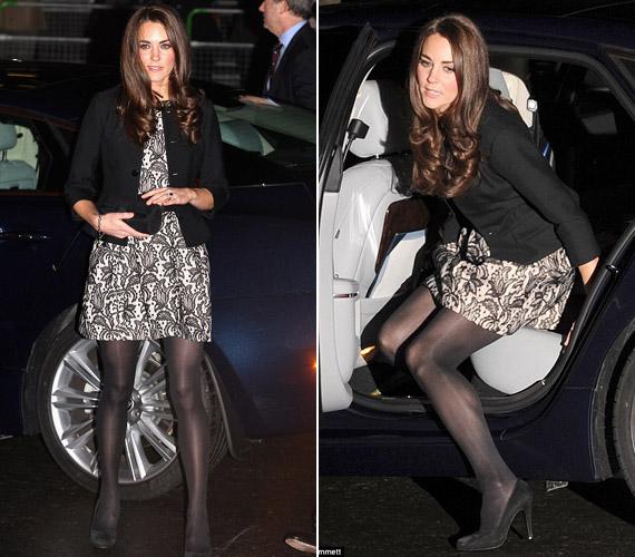 A konzervatív stílusúnak ismert Katalin hercegnő Zara ruhája jóval többet mutat combjaiból, mint a visszafogott szoknyák, amiket általában viselni szokott.