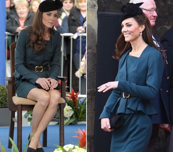 A szoknya kicsit merész a királyi ceremóniához mérten.