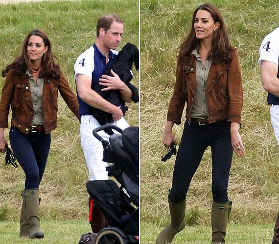 A lovaspólóversenyre házikedvencük is elkísérte őket: Lupo, a cocker spániel még a hercegnét is háttérbe szorítva a figyelem középpontjába került.