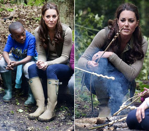 Az általános iskolásokkal kis kirándulást tett az erdőben, ahol tábort is vertek.