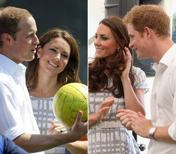 Nemcsak Vilmossal, hanem sógorával, Harryvel is sokat nevetett a nap folyamán.