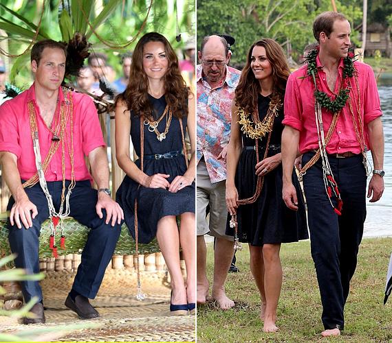 A hercegi pár mindig összehangolja öltözékét, ezúttal lazára vették a figurát.