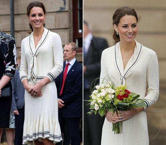 Nem az első alkalommal viselte ezt a nagyszerű darabot: 2011-ben, kanadai útja során is volt már rajta ugyanez.